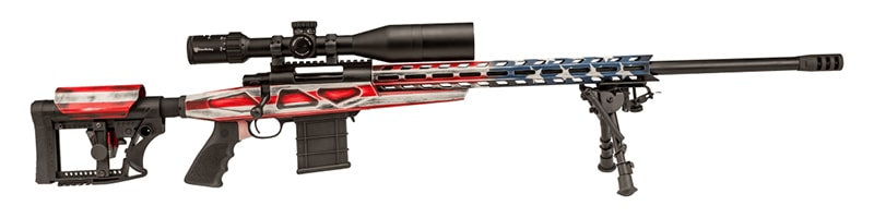 Howa Patriot Chassis 6.5 cm Rifle with scope and bipod