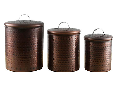 Copper Finish Canister Set